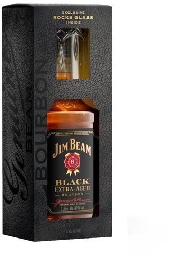 Jim Beam Black 43% Value Added Pack +1 Glas 1L