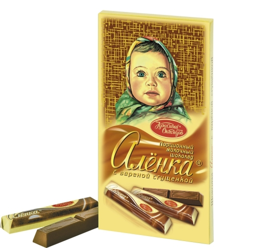 Krasny Oktyabr Alenka Chocolate in Stick 100g