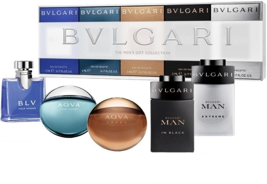 Bvlgari Coffret Themen's Gift Collection 5mlx5bottles