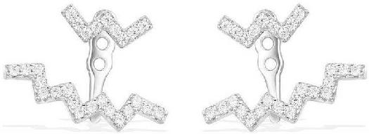 APM Monaco Up And Down Underlobe Earrings - Silver