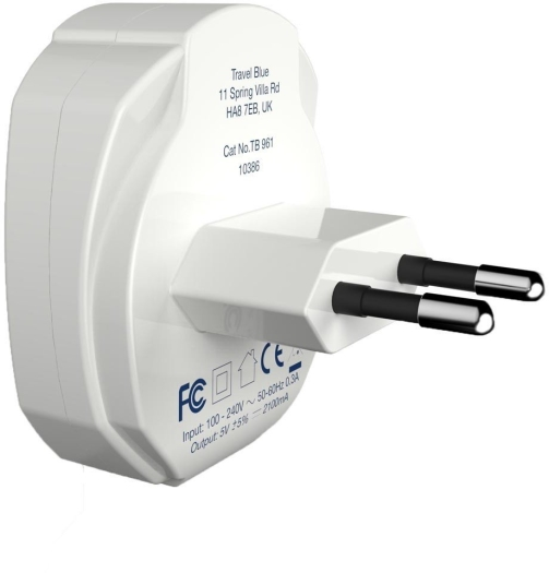 Travel Blue DUAL USB Wall Charger 961