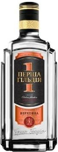 Premium Ukrainian vodka First Guild Verhovna 0.7L