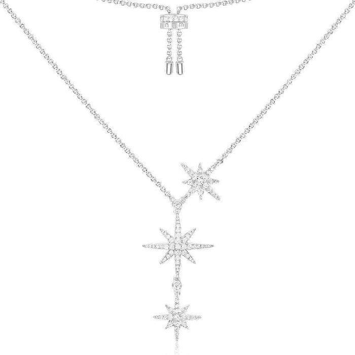 APM Monaco Triple Météorites Adjustable Necklace - Silver