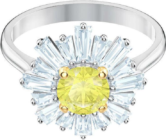 Swarovski Sunshine Ring, Yellow, Rhodium Plating