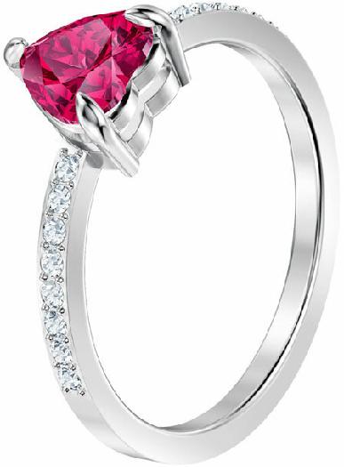Swarovski One Ring, Small, Red, Rhodium Plating 55