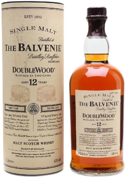 Balvenie DoubleWood 12 Year Old 43% 1L