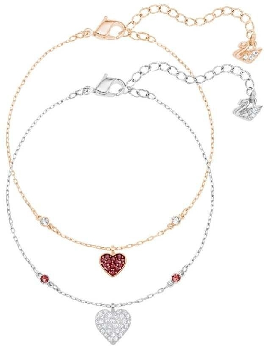 Swarovski Crystal Wishes Heart 5272249 Bracelet Set