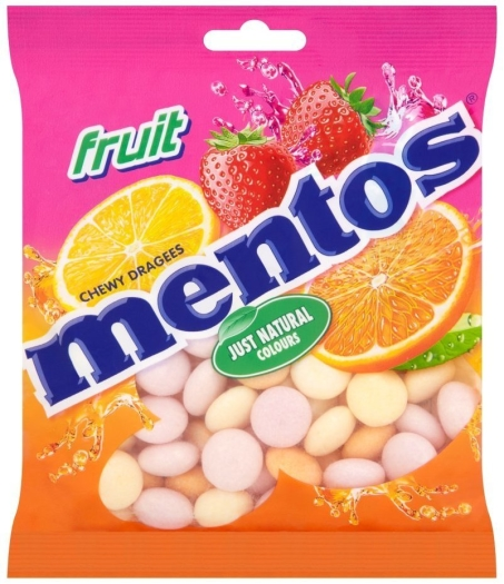 Mentos Chewy Dragees Fruit 175g