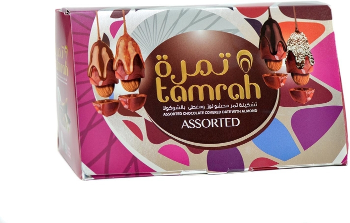 Tamrah Pyramid Assorted Chocolate Covered Date With Almond 300g