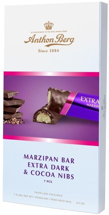 Anthon Berg Marzipan Bar Double Dark with Nibs 231g
