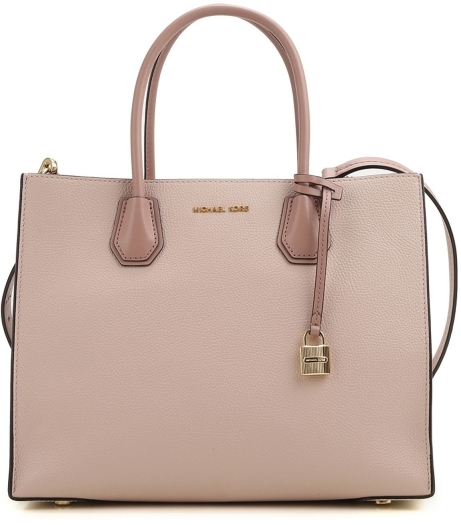 Michael Kors Mercer Large Color-Block Leather Tote