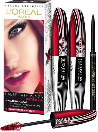 L'Oreal False Lash Wings Intenza Mascara Set 2x7ml+4g