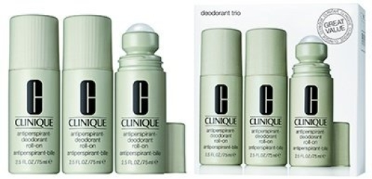 Clinique Deodorant Trio Cosmetic Gift Set 3x75ml