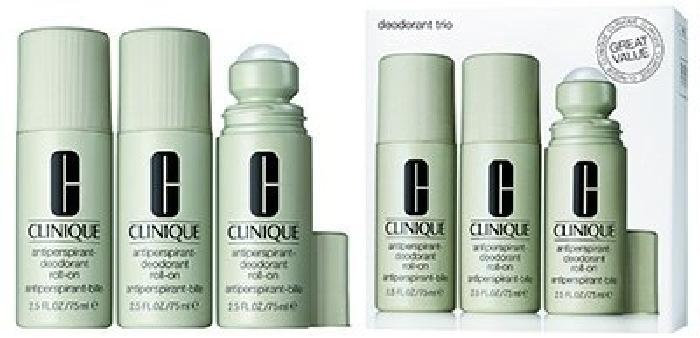 Clinique Deodorant Trio Cosmetic Gift Set 3x75ml