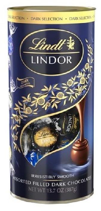 Lindt Lindor Tube Dark Selection 387g