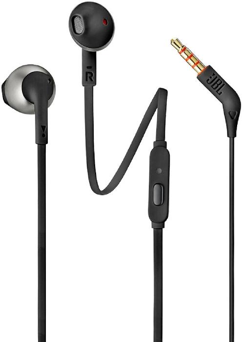 JBL T205 Earbud Headphones with Remote Black 14.3g