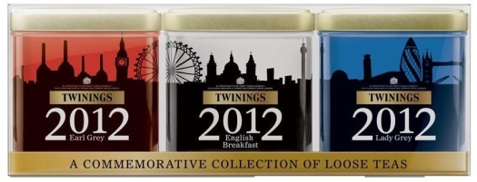 Twinings Skyline Tea Collection. A collection of Earl Grey English Breakfast and Lady Grey Tea 3x100g