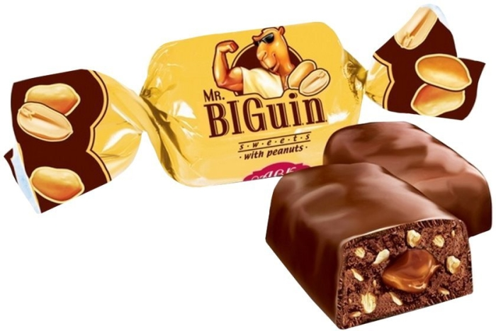 AVK Confectionery Mr. BIGuin with Peanuts 1000g