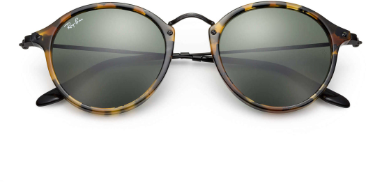 Ray-Ban Round Spotted Black Havana sunglasses