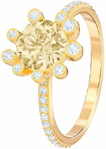 Swarovski Olive Ring, Multi-colored, Gold Plating 52
